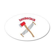 Saw Axe Lumberjack Logging Wall Decal
