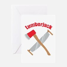 Saw Axe Lumberjack Logging Greeting Cards