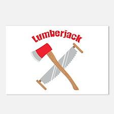 Saw Axe Lumberjack Logging Postcards (Package of 8