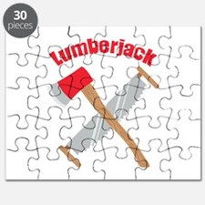 Saw Axe Lumberjack Logging Puzzle