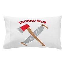 Saw Axe Lumberjack Logging Pillow Case