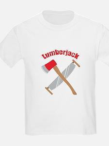 Saw Axe Lumberjack Logging T-Shirt