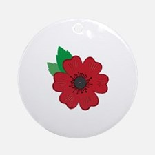 Remembrance Day Poppy Ornament (Round)