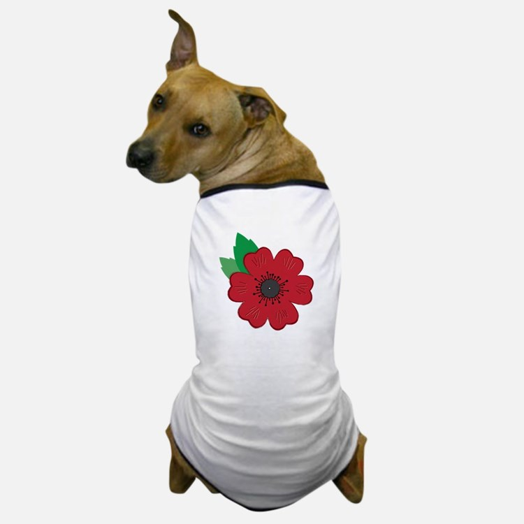 Remembrance Day Poppy Dog T-Shirt