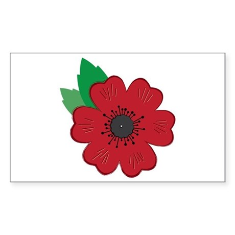 Remembrance Day Poppy Stickers By Embroidery20
