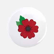 "Remembrance Day Poppy 3.5"" Button (100 pack)"