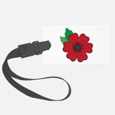 Remembrance Day Poppy Luggage Tag