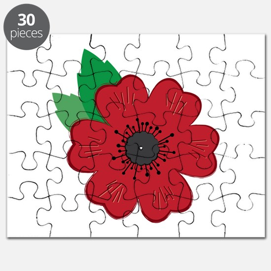 Remembrance Day Poppy Puzzle