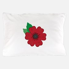 Remembrance Day Poppy Pillow Case