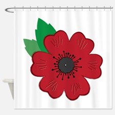Remembrance Day Poppy Shower Curtain