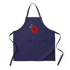 Remembrance Day Poppy Apron (dark)