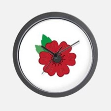 Remembrance Day Poppy Wall Clock