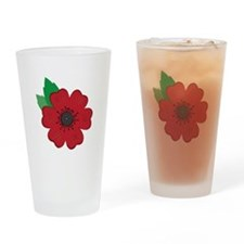 Remembrance Day Poppy Drinking Glass