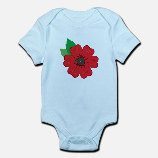 Remembrance Day Poppy Body Suit