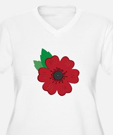 Remembrance Day Poppy Plus Size T-Shirt
