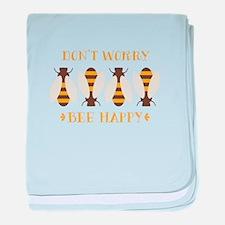 Don't Worry Bee Happy baby blanket