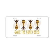 Save The Honey Bees Aluminum License Plate