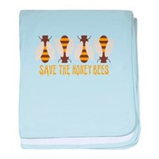 Save The Honey Bees baby blanket