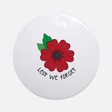 Lest we forget Ornament (Round)