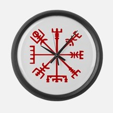Blood Red Viking Compass : Vegvisir Large Wall Clo