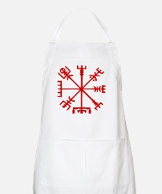 Blood Red Viking Compass : Vegvisir Apron