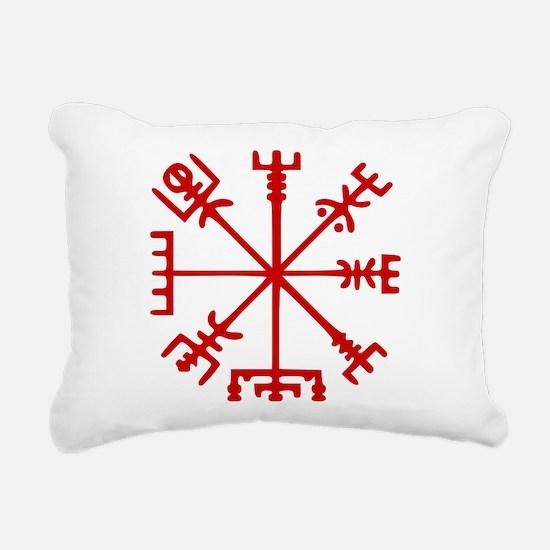 Blood Red Viking Compass : Vegvisir Rectangular Ca