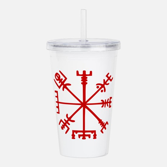 Blood Red Viking Compass : Vegvisir Acrylic Double