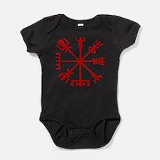 Blood Red Viking Compass : Vegvisir Baby Bodysuit