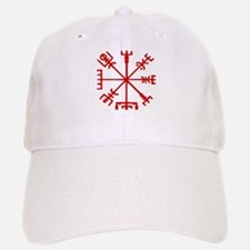 Blood Red Viking Compass : Vegvisir Baseball Baseball Cap