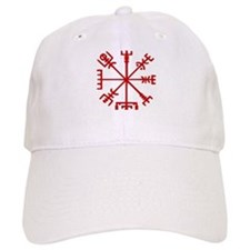 Blood Red Viking Compass : Vegvisir Baseball Cap