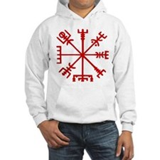 Blood Red Viking Compass : Vegvisir Jumper Hoody