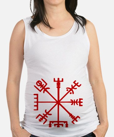 Blood Red Viking Compass : Vegvisir Maternity Tank
