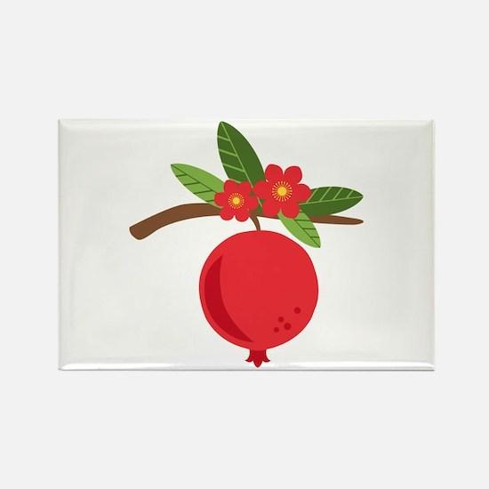 Pomegranate Blossom Fruit Tree Branch Magnets
