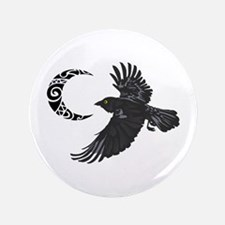 "RAVEN AND MOON 3.5"" Button"