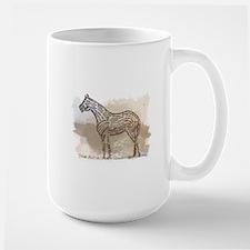 American Quarter Horse in Typography Large Mug