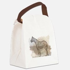 American Quarter Horse in Typogra Canvas Lunch Bag