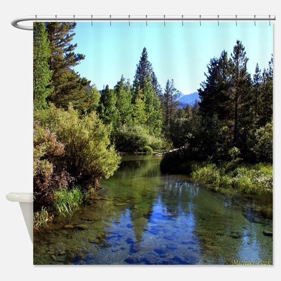Mountain Reflections Shower Curtain
