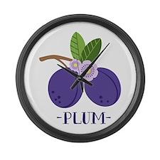 Plum Large Wall Clock
