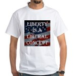 liberal White T-Shirt