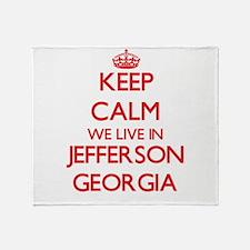 Keep calm we live in Jefferson Georg Throw Blanket