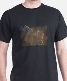 American Quarter Horse in Typography T-Shirt