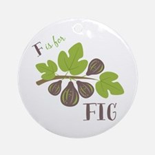 F Is For Fig Ornament (Round)