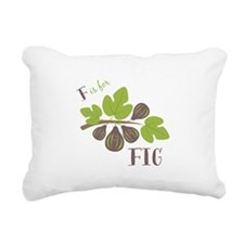 F Is For Fig Rectangular Canvas Pillow