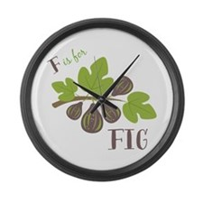 F Is For Fig Large Wall Clock