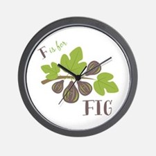 F Is For Fig Wall Clock