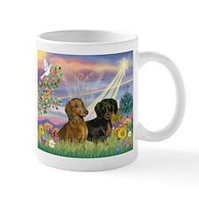 Cloud Angel & Dachshund Pair Mug