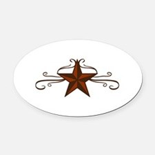 WESTERN STAR SCROLL Oval Car Magnet
