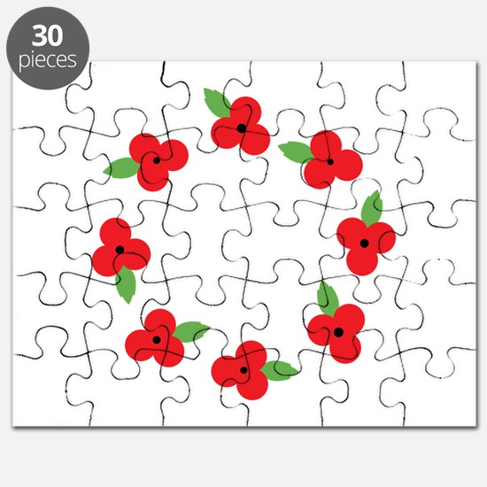 Poppy Wreath Puzzle