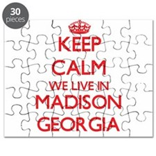 Keep calm we live in Madison Georgia Puzzle