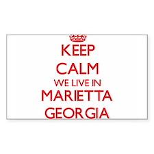 Keep calm we live in Marietta Georgia Decal